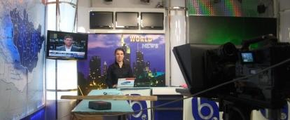 An intern gaining journalism work experience in Mongolia